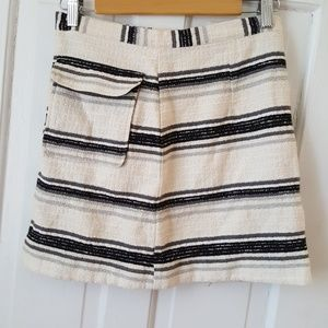 Classy striped topshop skirt
